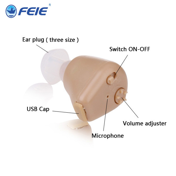 china mercado de eletronicos 2 pcs More Cheaper Price In the Ear Voice Amplifier Mini  ite invisible medical Hearing Aid S-216 new rechareable mini invisible ite k 88
