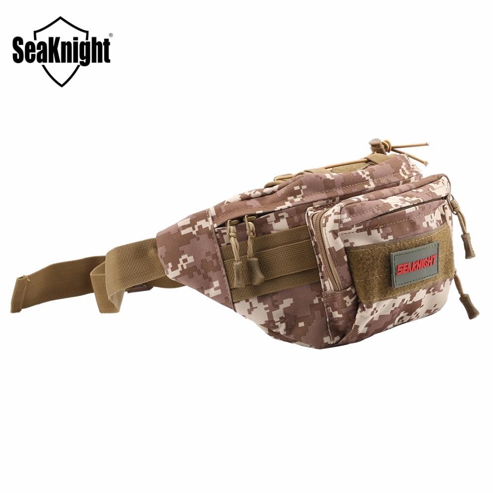 Сумка для рыбалки SeaKnight SK001, многофункциональная холщовая поясная сумка 24*20*9 см, тактическая сумка для активного отдыха, спорта, Походов, Кем...