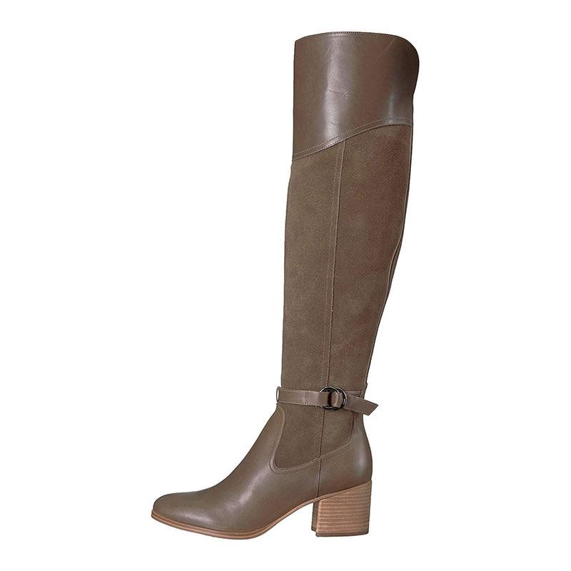 2019 Del Cuadrado Cremallera ty01 Zapatos Para Adultos Tacón Alta Rodilla Redondo Ty02 Maduro Moda De Ocio Las Botas Damas Mujeres Pie Invierno Nancyjayjii Dedo Sólido PTwOBqB