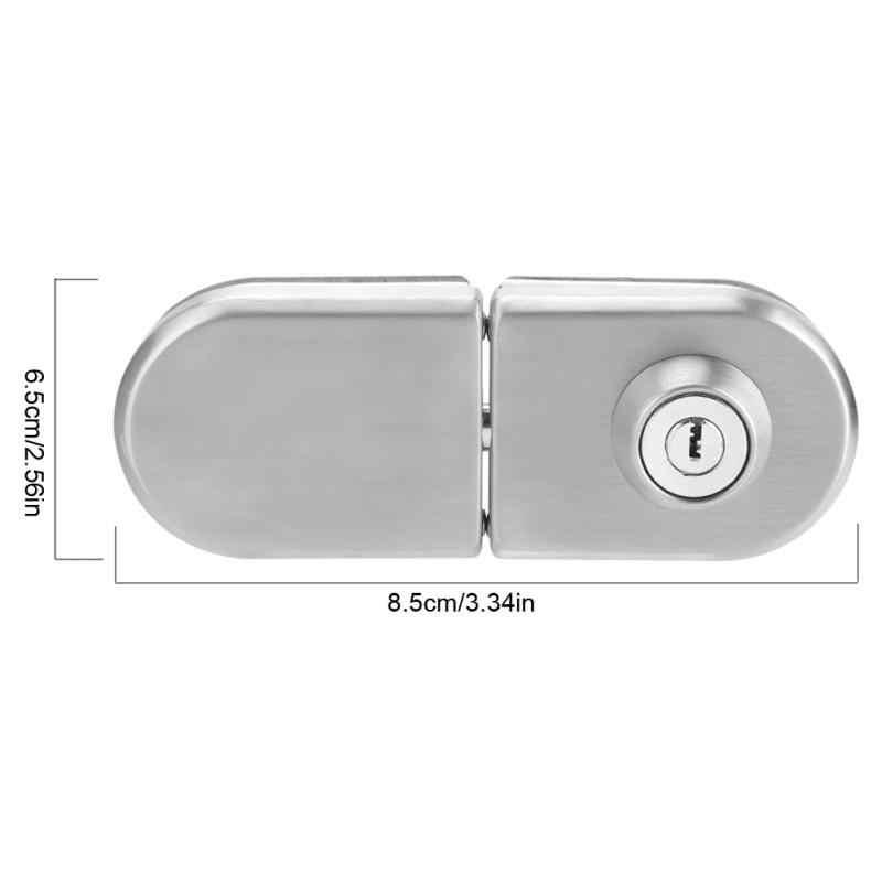 10 ~ 12 мм из нержавеющей стали стеклянный дверной замок с ключами открытые/Закрытые дверные замки с защелкой w/аксессуары дом, отель, ванная комната Горячая продажа