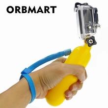 ORBMART Bobber צף כף יד חדרגל הר יד אחיזה Selfie מקל עבור Gopro HERO 4 3 + 3 2 1 SJ4000 xiaomi יי פעולה מצלמות