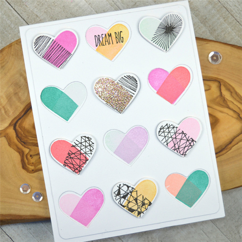 DiyArts Love Background Metal Cutting Dies New 2019 for Craft Dies Scrapbooking Album Embossing Die Cut Heartshaped Hollow Cover in Cutting Dies from Home Garden