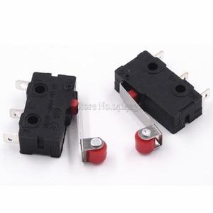 Image 4 - 10 sztuk gorąca sprzedaż mały mikroprzełącznik 3Pin z wyłącznikiem krańcowym rolki