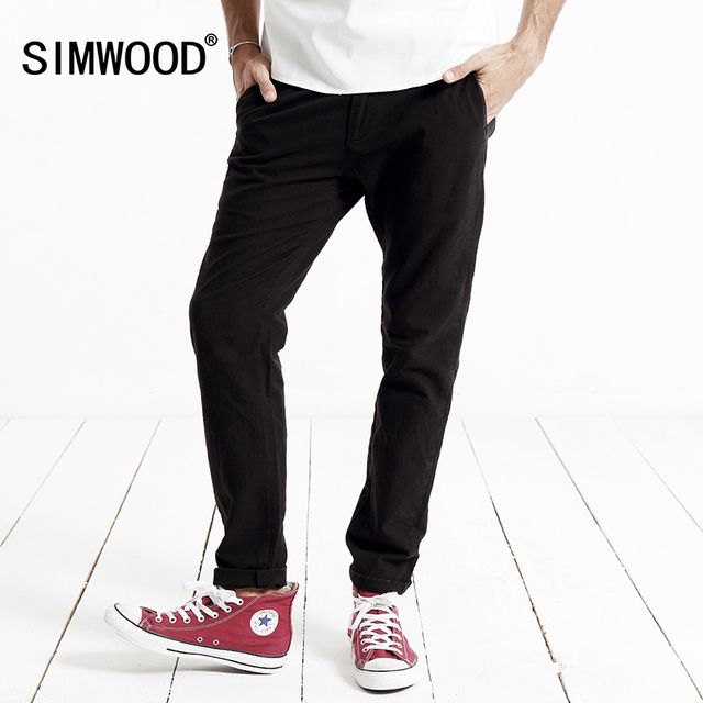 SIMWOOD 2016 new autumn winter casual pants men  length  fashion trousers  brand clothing KX5521