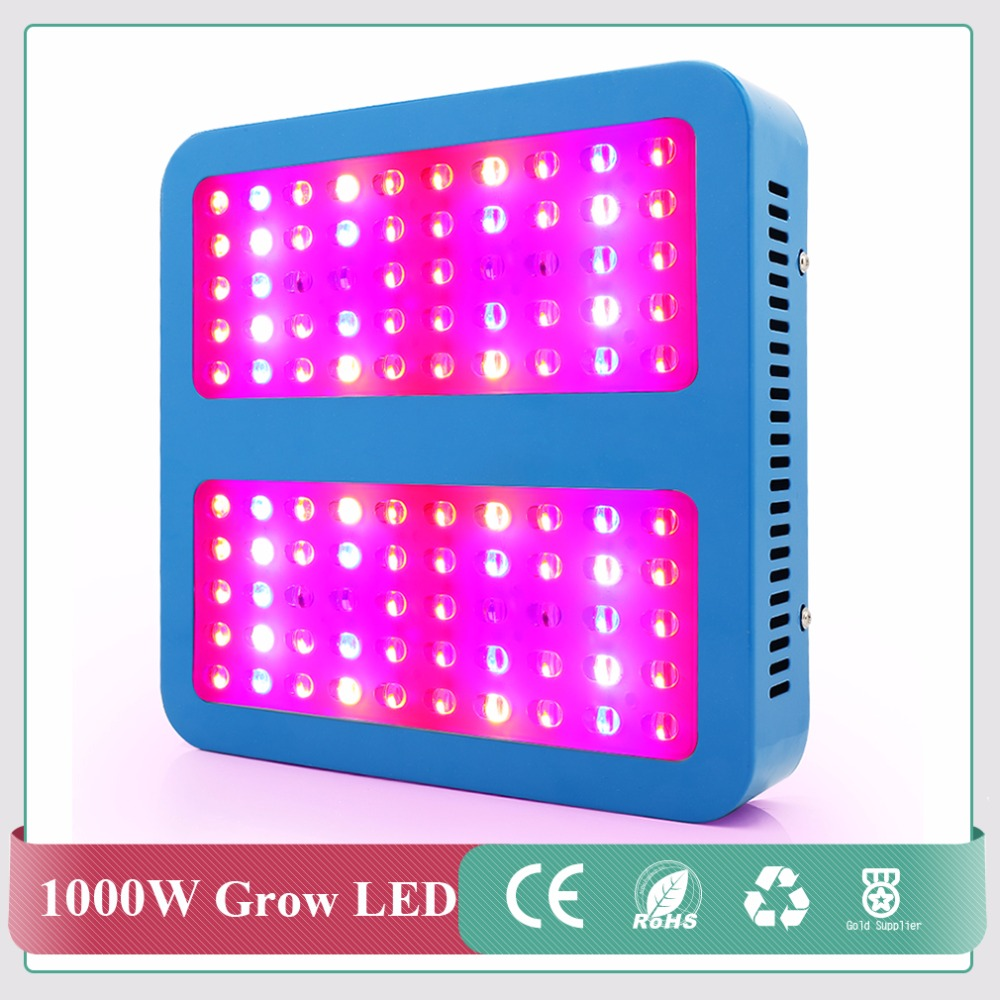 High Power Chips 1000W LED Grow Light Full Spectrum LED Plant Grow Light For Indoor Plants Flowering And Growing Express free 300w led grow light 3w chips high power 67red 15blue 8white 8orange 1uv 1ir plant grow lamp for greenhouse garden tent growing