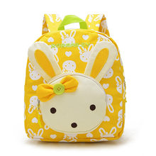 Kids School Bags Cartoon Rabbit Bear Dolls Applique Canvas Backpack Mini  Toddler Book Bag Baby Kindergarten Rucksacks e43b425e77537