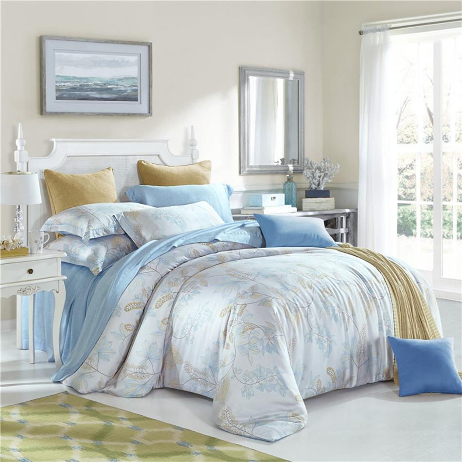 de diseo moderno juego de cama rey reina tamao doble completo tencel suave planta de ropa