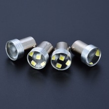 4pcs 1156 2835 6LED 6SMD Canbus Error Backup Reverse Turn Signal Light Bulb White Car Auto Lights