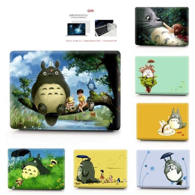 Totoro coque dimpression couleur étui pour ordinateur portable pour Macbook Air Pro Retina 11 12 13 15 16 pouces, étui pour nouveau 2020 Pro A2251 A2289
