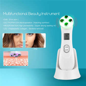 Mesotherapy Electroporation RF Radio Frequency LED Photon Skin Care Beauty Device Face Lifting Wrinkles Removal Facial Cleaner35