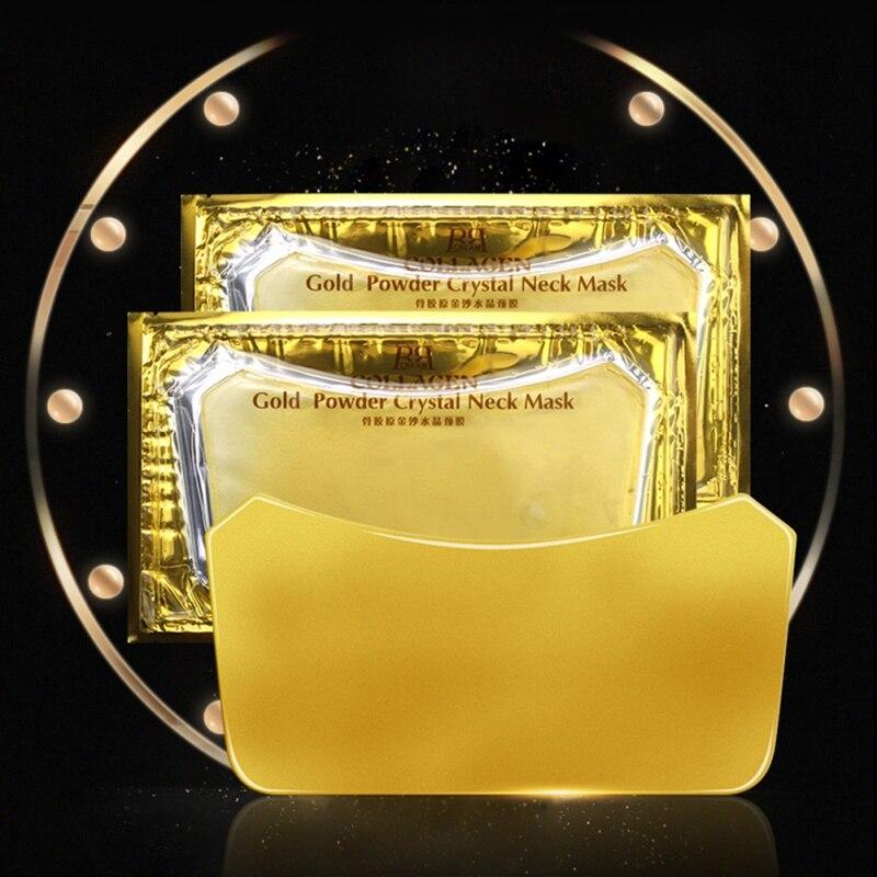 Hot Gold Collagen Neck Mask Crystal Gold Powder Whitening Anti-Aging Neck Care Moisturizing Remove Neck Wrinkles