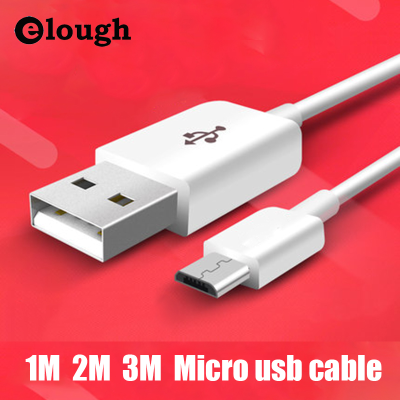 Elough Original 1m 2m 3m Long Mobile Phone Cable Micro USB Cable For Xiaomi Huawei Samsung Galaxy s5 s6 LG Sony Microusb Cable