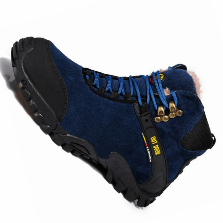 High Top Outdoor Sport Winter Running Shoes Breathable Genuine Leather Travel Walking Training Shoes Brand Men Winter Sneakers