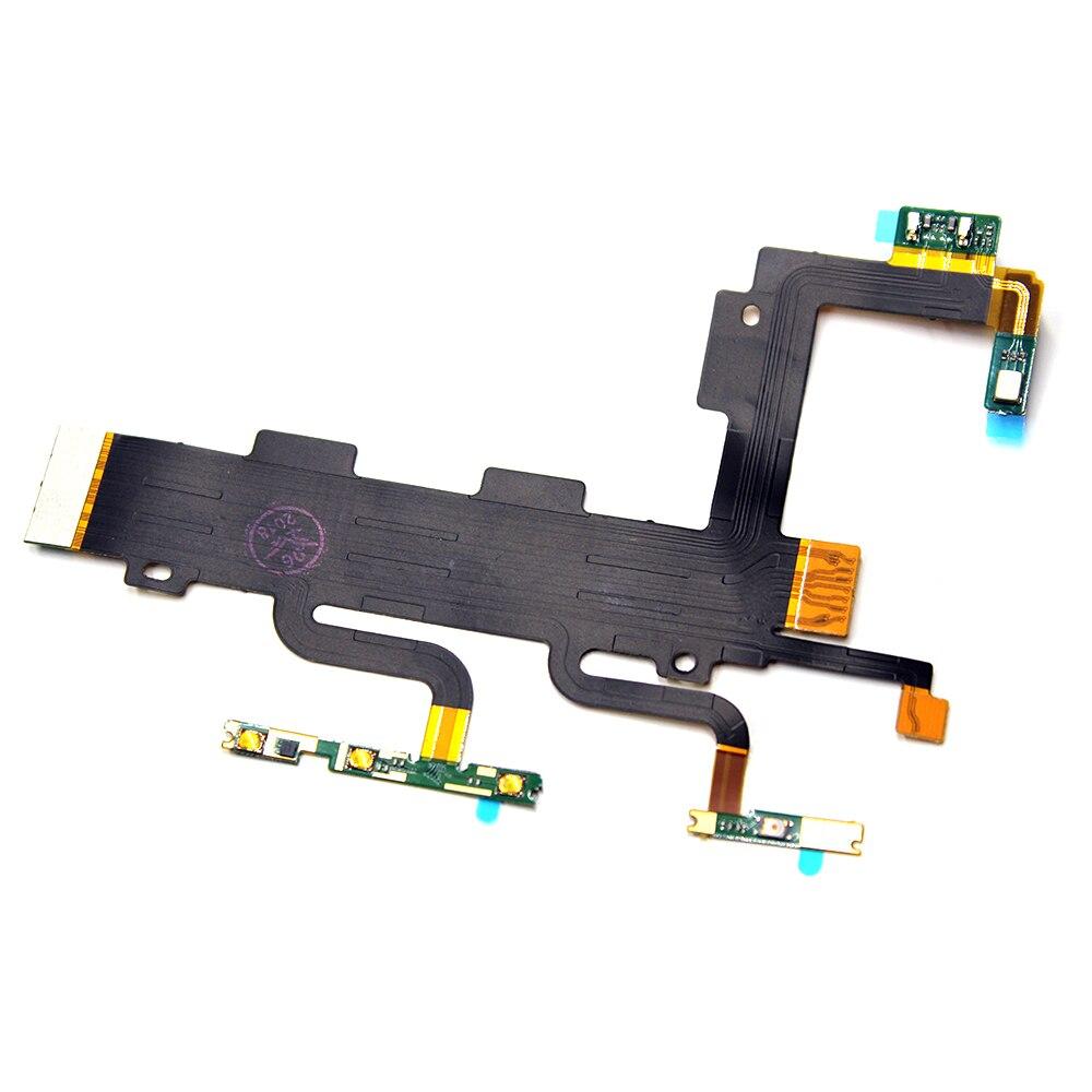 10 pcs/lot bouton marche/arrêt et Volume boutons haut/bas câble flexible pour Sony Xperia C3 S55T S55U D2502 D2533