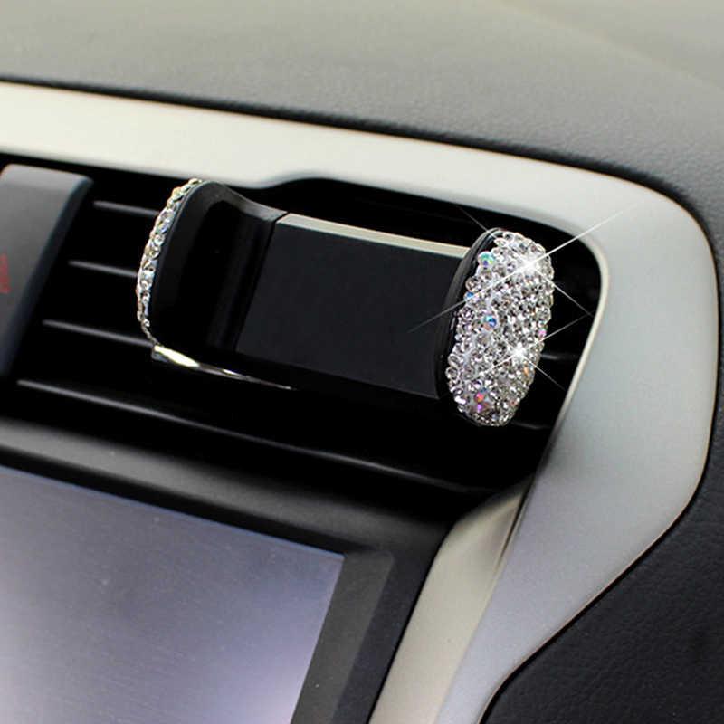 3 in 1 360 Derece Araç Telefonu ile araba için tutucu Dashboard Otomatik Windows ve Hava Havalandırma DIY Kristal Elmas Tipi için BMW için Toyota