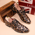 2016 England mens shoes Autumn leather platform shoes leopard printed Men high quality shoes oxfords dress shoes Free Shipping