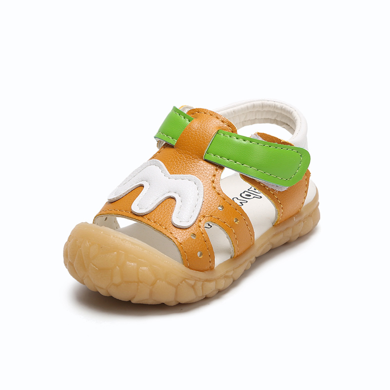 2018 summer boys sandals baby toddler shoes tendon end anti-slip wear anti-collision foot protection little kids beach shoes