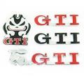 GTI Grade Dianteira Do Emblema Do Decalque Do Caminhão Capô Emblema Etiqueta Do Logotipo Para Skoda VW Golf MK4 MK5 MK6 Jetta Passat Polo Touareg Carro Styling