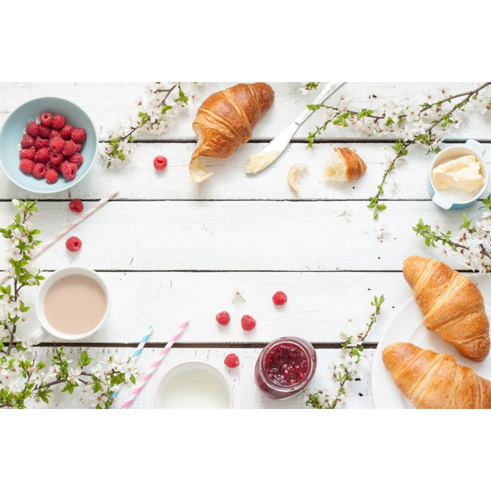Yeele Bread Milk Breakfast Wooden Board Bouquet Photography Backgrounds Customized Photography Backdrops For Photo Studio in Background from Consumer Electronics
