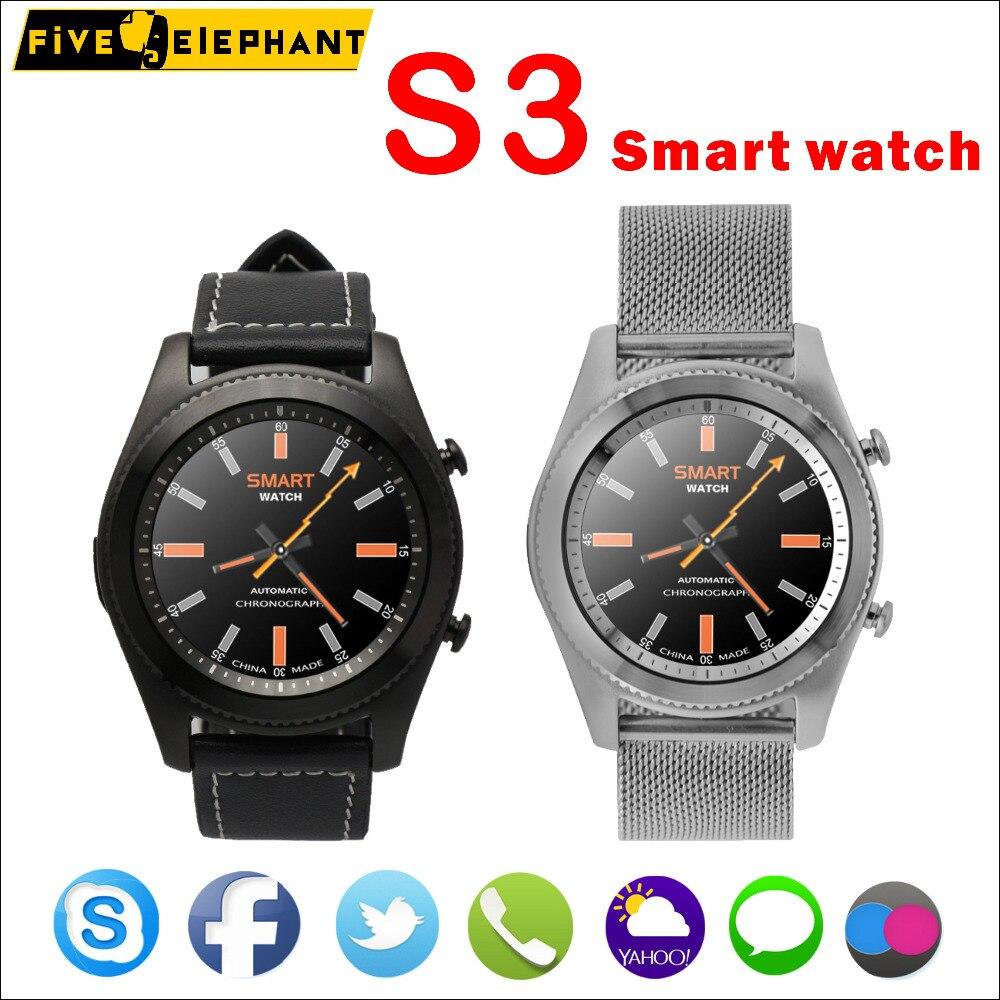 imágenes para 2017 nueva sincronización bluetooth smart watch as3 s3 smartwatch sport android s9 para apple iphone samsung para android huawei xiaomi lenovo