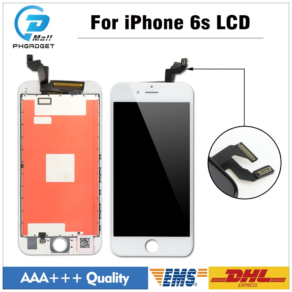 20 pcs/lot AAA+ Digitizer Touch Screen and LCD Display For iPhone 6S replacement top quality Black White image