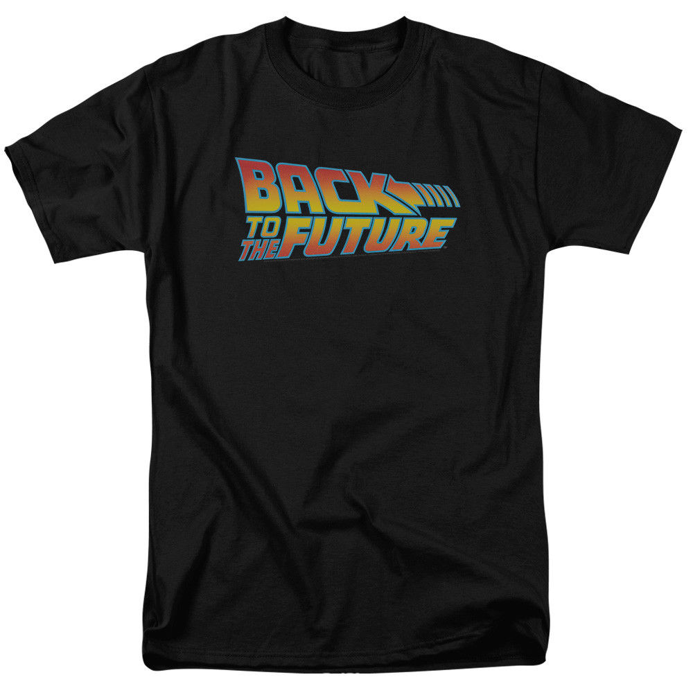 BACK TO THE FUTURE LOGO ADULT MENS T-SHIRT 2XL Fashion Men T Shirt Clothing Printed Cotton Man o Neck Top
