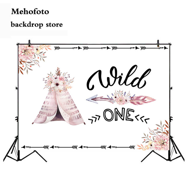 Mehofoto Newborn Tribal Party Baby Shower Photo Backgrounds Wild One Birthday children's backdrop Carnival Backdrop Studio 740