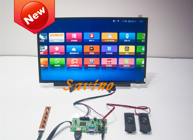 13.3 inch 8 Bit Display Screen 1920x1080 IPS 1080P VGA+AUDIO+HDMI LCD Module Car Raspberry For Pi 3 Game PS3 XBox PS4 Monitor