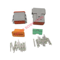 5 sets Kit Deutsch DT 12 Pin Waterproof Electrical Wire Connector plug Kit  DT06 12S DT04 12P 14 GA|wire 5 pins|5 pin wirekit connector -