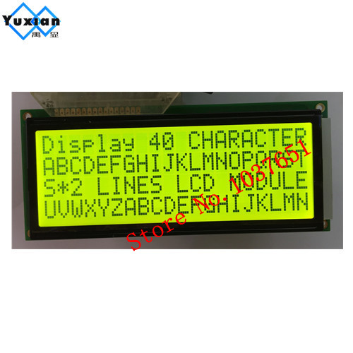 2pcs large big charactor lcd display 2004 20 4 lcd module 146 62 5mm green LC2042