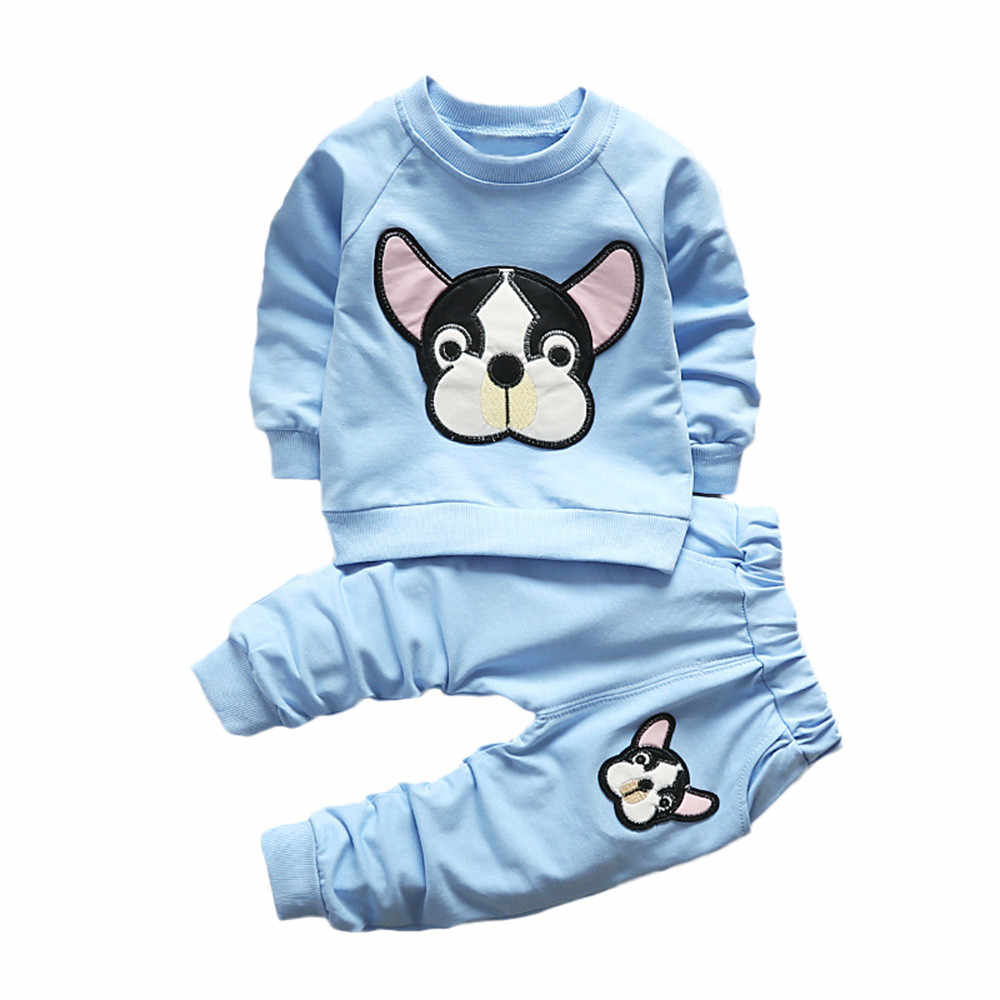 Baby Boys Girls Kids Animals Clothes 2PCS Long Sleeve T-shirt+Pants Outfits Set Toddler newborn baby boy sweatsuit cartoon