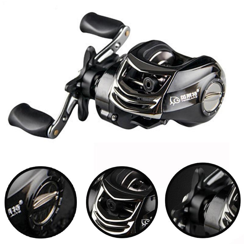 Magnetic brake system water drop wheel 10 1bb fishing reel for Fish drops reels