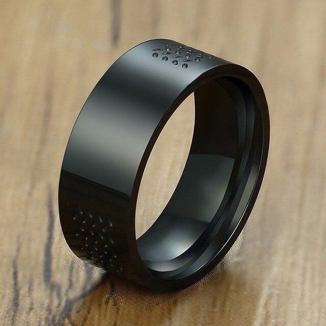 8mm Masonic Ring For Men Stainless Steel Freemason Symbol