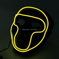 New Brand Design Fashion Show Decor Luminous EL Wire Mask Holiday Lighting Colorful LED Neon Strip