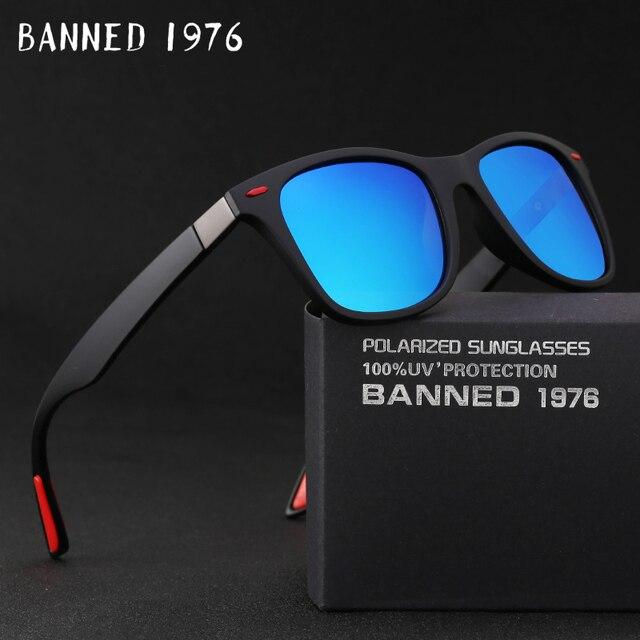 2da0fe7061 2018 moda HD polarizado gafas de sol hombres UV400 genial conducir tonos  vintage marca nuevo mujeres Original