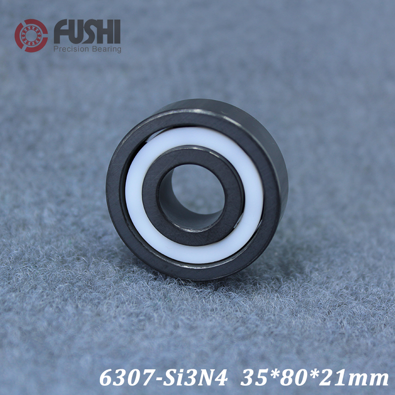 6307 Full Ceramic Bearing ( 1 PC ) 35*80*21 mm Si3N4 Material 6307CE All Silicon Nitride Ceramic Ball Bearings6307 Full Ceramic Bearing ( 1 PC ) 35*80*21 mm Si3N4 Material 6307CE All Silicon Nitride Ceramic Ball Bearings