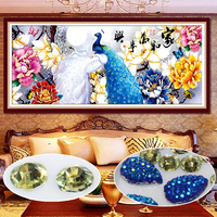 New Diy Diamond Embroidery Peacock Peony Diamond Painting Cross Stitch Animal Serie Round Special Shaped Diamond