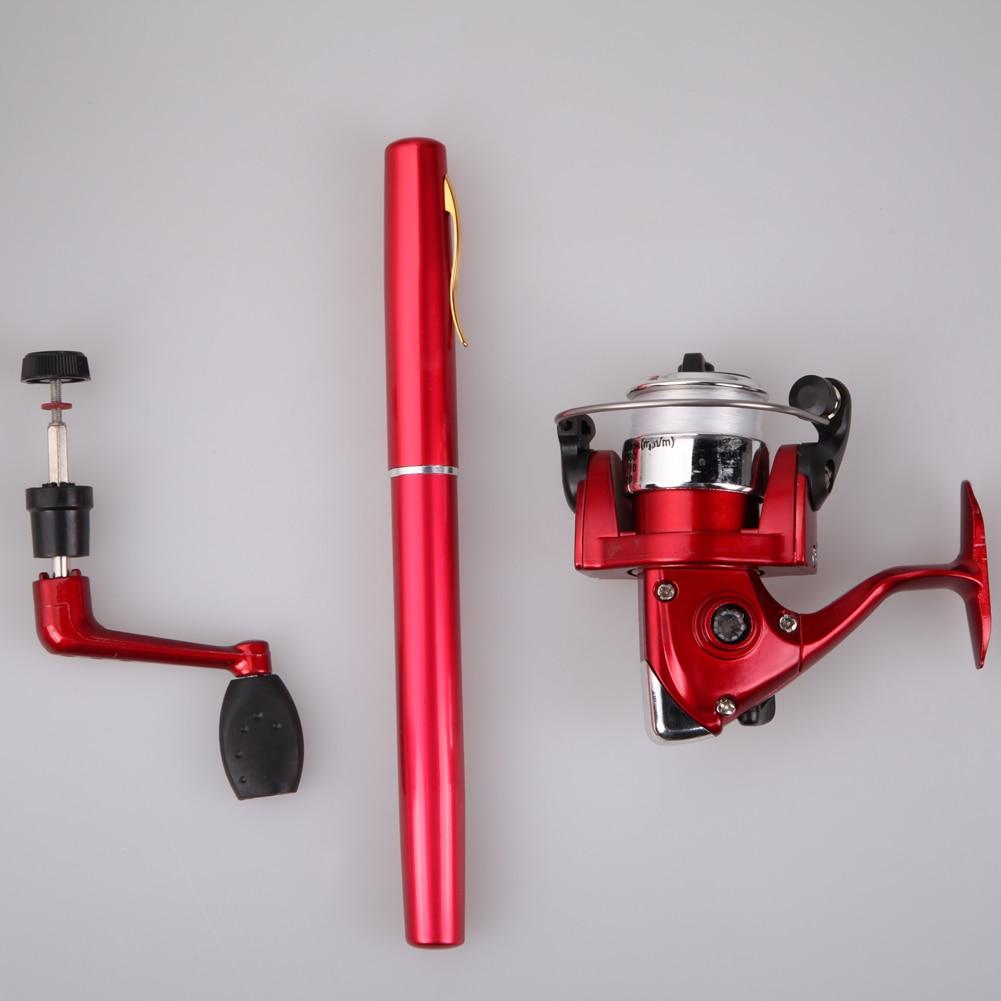 21cm Aluminum Alloy Pocket Pen Fishing Rod Pole + Mini Baitcasting Reel 100m Line Carp Fishing Ice Fishing Accessories