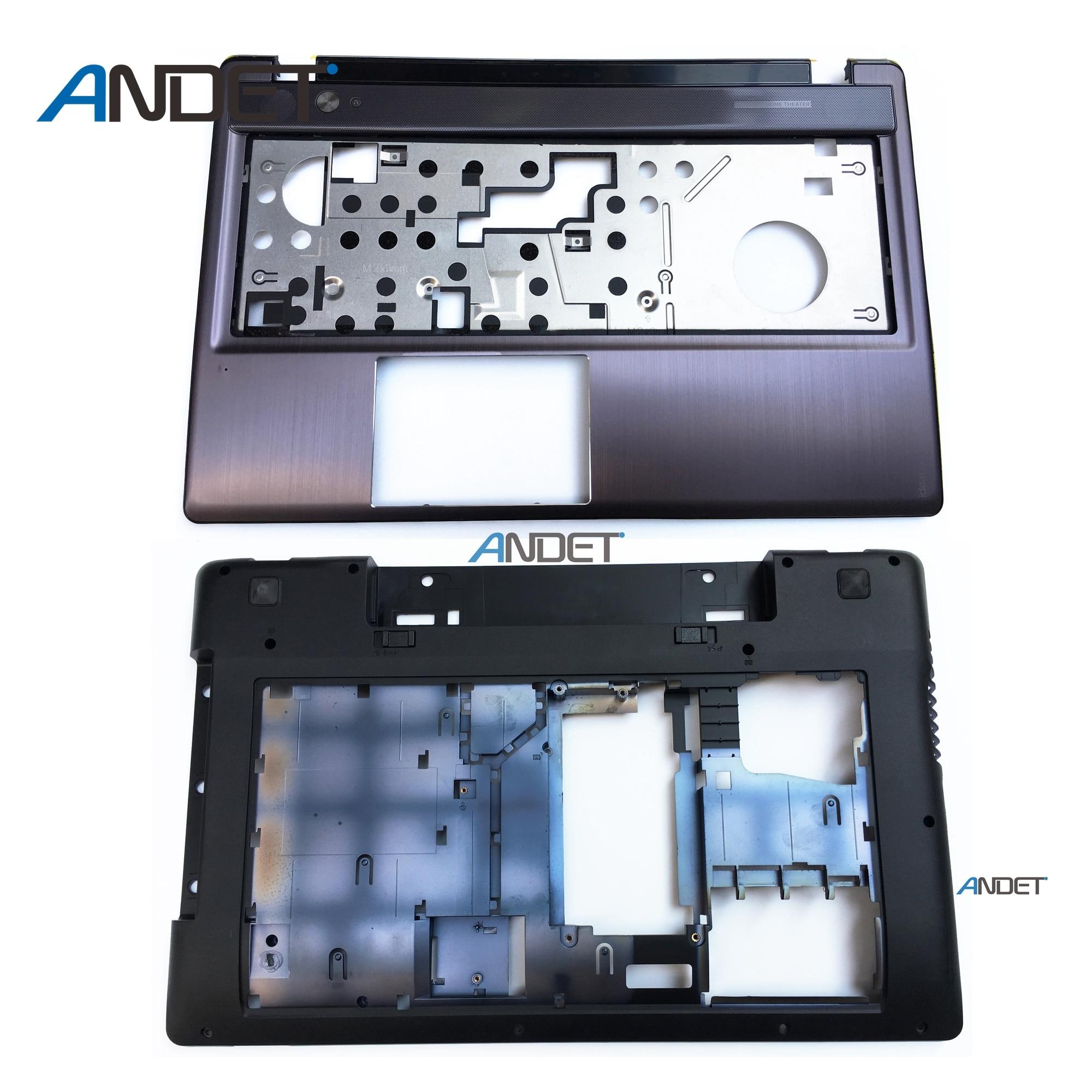New Original For Lenovo IdeaPad Z580 Z585 Lower Cover Base Shell Bottom 3ALZ3BALV00 Palmrest Keyboard Bezel