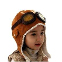 08bf816733c Unisex Bomber Hats Child Pilot Aviator Hat Earmuffs Beanies Kids Autumn Winter  Warm Earflap Ear Protection Cap Child Accessories