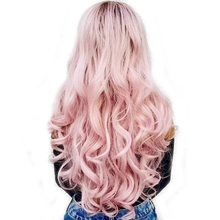 DLME Lace Front Hair Women Artificial Long Wavy White Wig Synthetic Hair 24inch High Temperature Fiber Rose Wigs Drag Queen