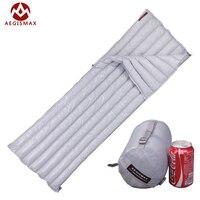 Aegismax Lengthened Ultralight Envelope Type White Goose Down Camping Hiking Outdoor Sleeping Bag Bags 200X80cm M