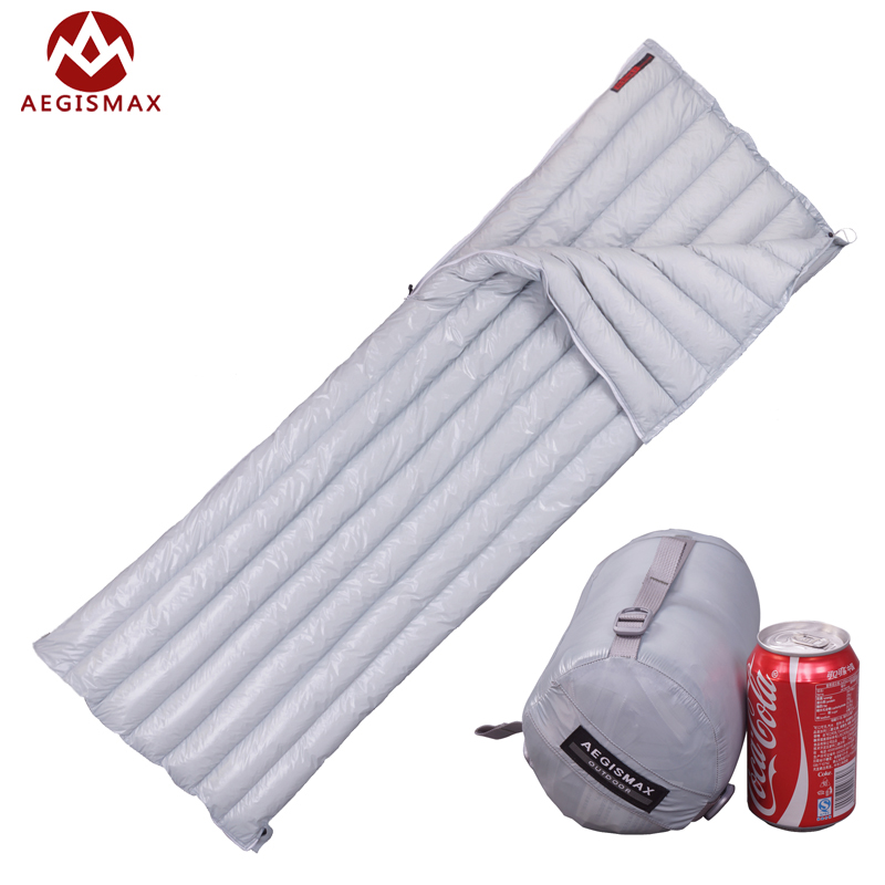 Aegismax Lengthened Ultralight Envelope Type White Goose Down Camping Hiking Outdoor Sleeping Bag Bags M L Size naturehike goose down sleeping bag adult waterproof travel outdoor camping hiking warm winter envelope ultralight sleeping ba
