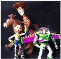 Toy Story 3 Buzz Lightyear Woody Jessie figuras de ação PVC brinquedos brinquedos de criança 4 pçs/set DSFG197