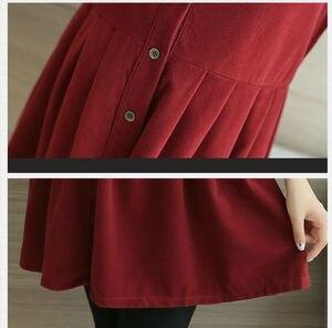 Image 5 - סתיו וחורף קורדרוי T חולצה סיעוד שמלת עבור אמא תלבושת ליולדות בהריון נשים הנקה T שמלה