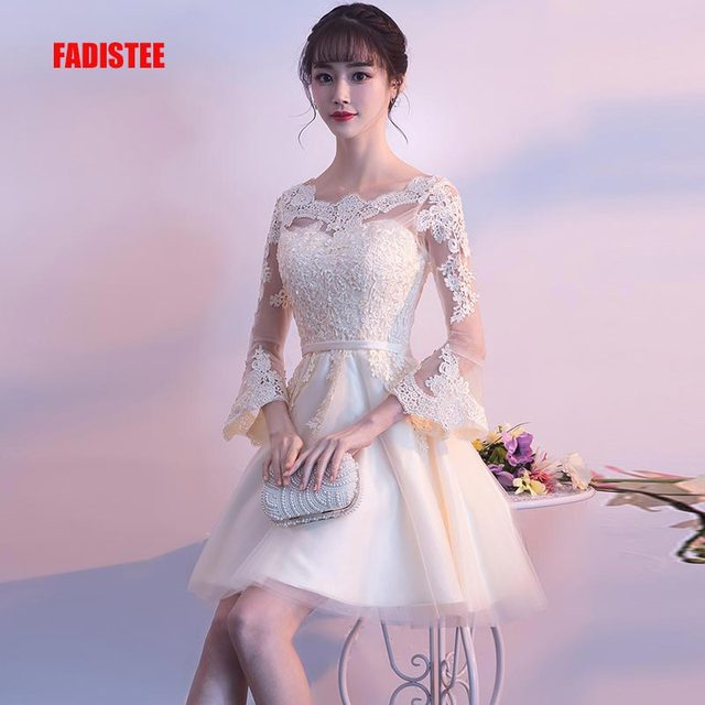 4486b17b3 FADISTEE New design A-line short dresses cocktail party dress lace elagant simple  lace-