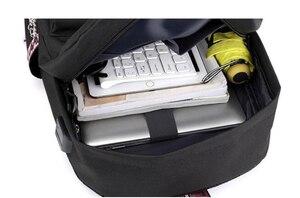 Image 5 - Monsta X Wanna One Jisoo Lisa Korean Style Backpack School Bags Mochila Travel Laptop Bags With Chain USB Headphone Port