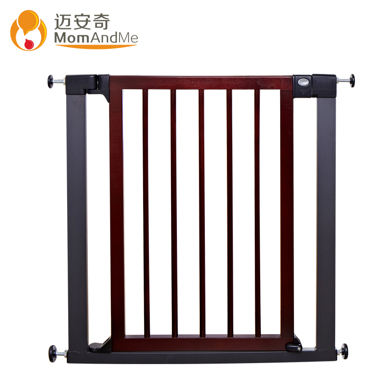 Export quality 75 82cm child solid wood gate baby balcony stair fence pet dog isolation fence
