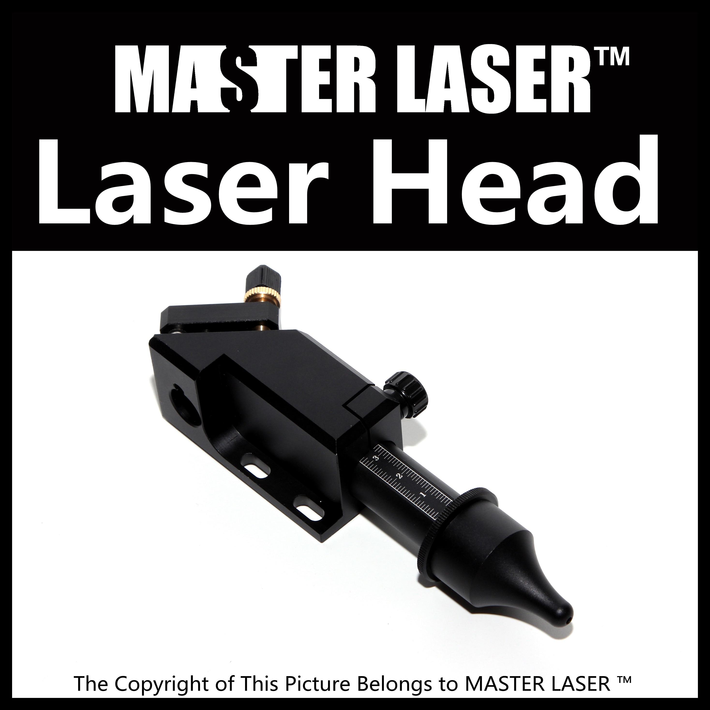 ФОТО Best Quality Aluminum Laser Head Pen for 40w 60w 80w for CO2 Laser Cuting Lens Dia 20mm FL76.2mm Left inside