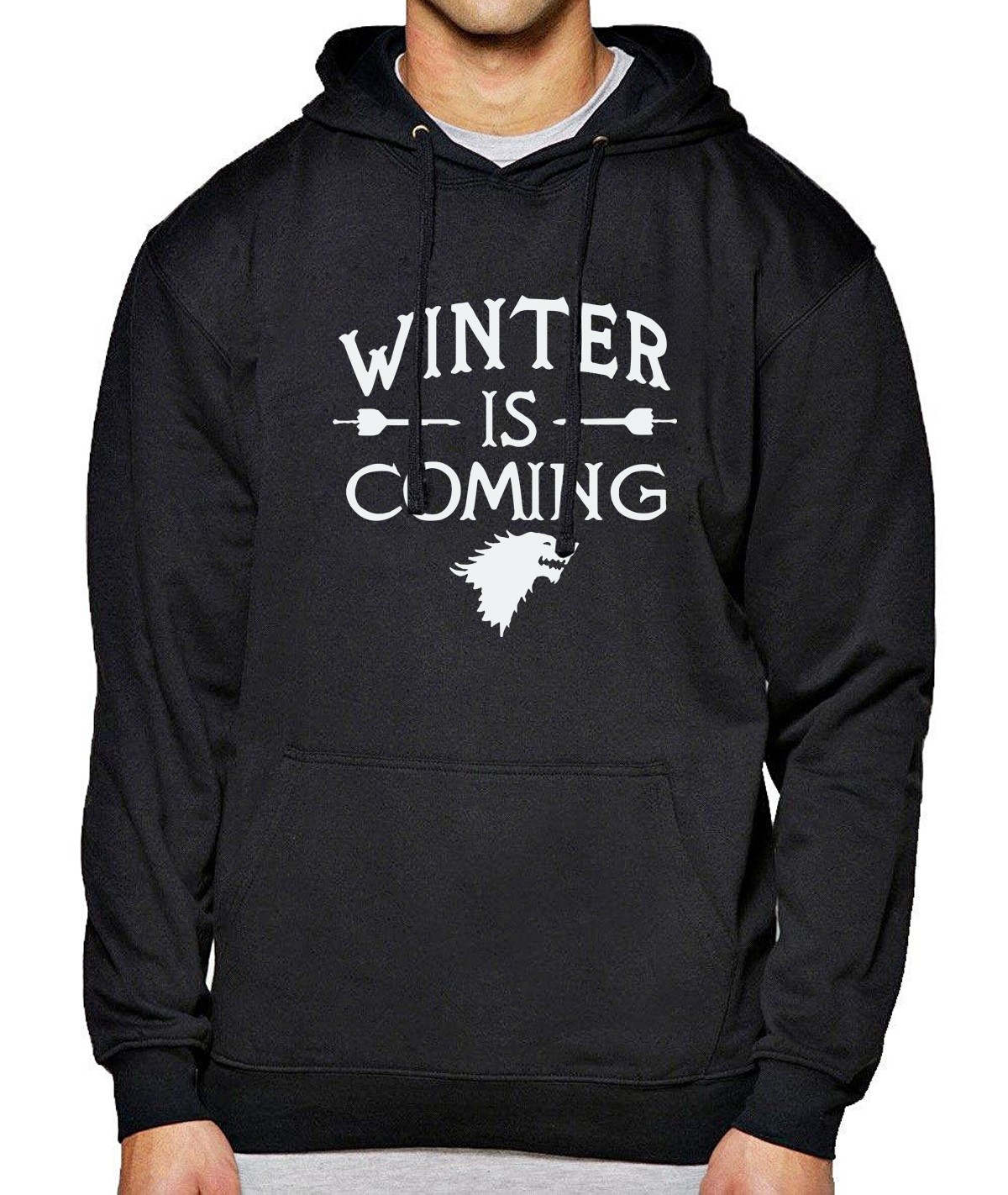 2018 Spring Winter Hoodies Men Sweatshirts Letter Game Of Thrones Print Fleece Hoody Fashion Men's Clothes Men's Sportswear
